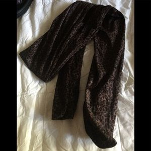 Velvet cheetah brown scarf dressy